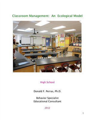 Classroom Management:  An Ecological Model :  High School