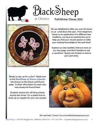 BlackSheep October Class Booklet