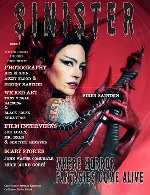 SINISTER Magazine-Issue #3-Siren Saintsin Cover