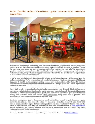 Wild Orchid Subic: Consistent great service and excellent amenities