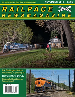 NOVEMBER 2012 Railpace Newsmagazine