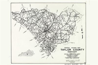 TAYLOR COUNTY, KENTUCKY MAP