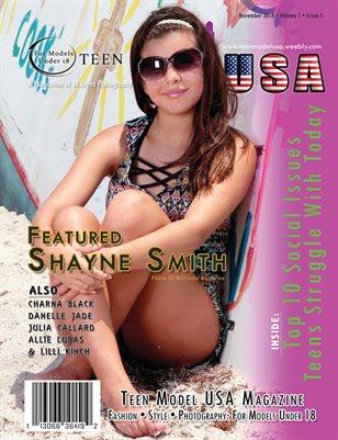 TEEN MODEL USA • VOL 1 • ISSUE 5 • NOVEMBER 2018