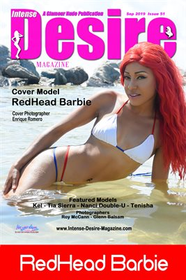 INTENSE DESIRE MAGAZINE COVER POSTER - Cover Model RedHead Barbie - September 2019