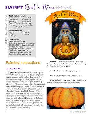 Happy Owl-o-Ween Plaque Painting Tutorial by Sharon Chinn SC14905