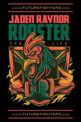 12x18 Jaden Raynor Logo Poster Rooster