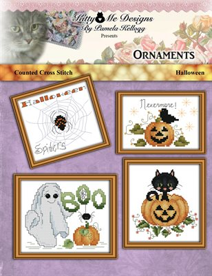 Cross Stitch Halloween Ornaments
