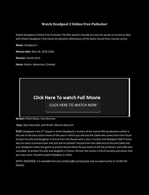 Collection Watch Deadpool 2 Online Magcloud