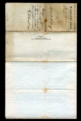 (PAGES 1-2) 1858 WARRANTY DEED JACOB LEEBER TO SILAS P. STICKNEY