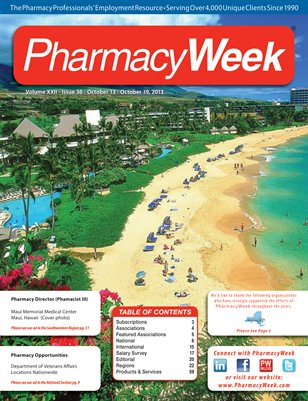 Pharmacy Week, Volume XXII - Issue 36 - October 13 - October 19, 2013