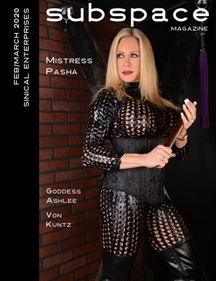 subspace Feb/March 2020 Issue - Mistress Pasha cover