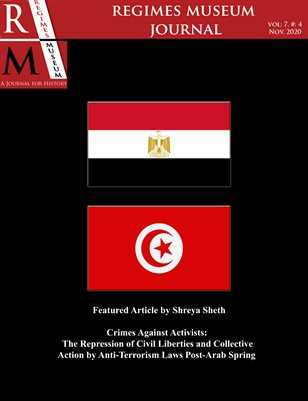 Regimes Museum Journal Volume 7, Issue 4