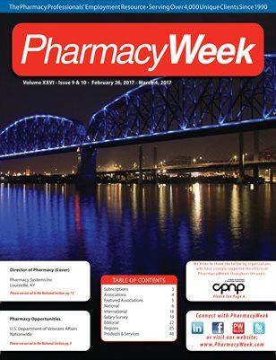 Pharmacy Week, Volume XXVI - Issue 9 & 10 - February 26, 2017 - March 11, 2017