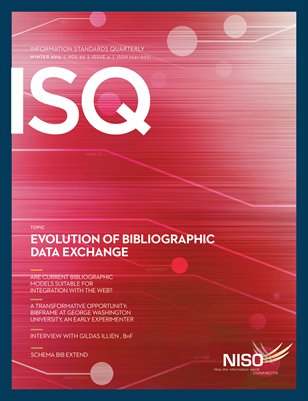 Winter 2013: Evolution of Bibliographic Data Exchange