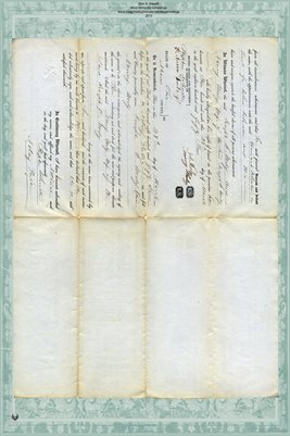 1853 Deed, Worley to Johnson/Johnston-Miami County, Ohio