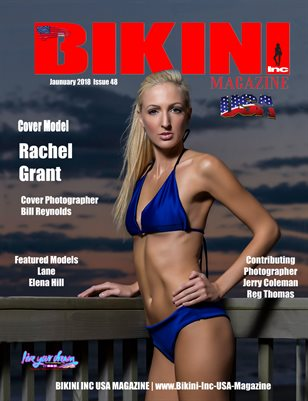BIKINI INC USA MAGAZINE - Cover Model Rachel Grant - January 2018