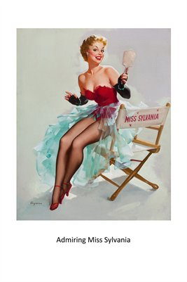 Admiring Miss Sylvania-Hollywood pinup