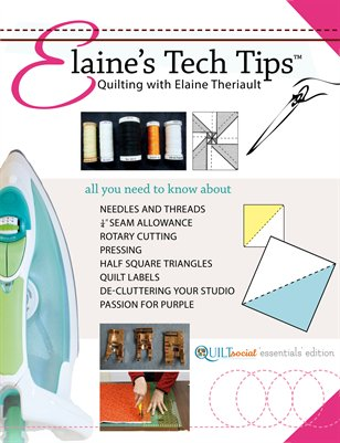 Elaine's Tech Tips, QUILTsocial 'Essentials' Edition