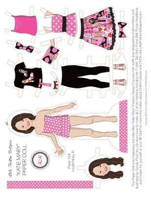 """Katie Mary"" PAPER DOLL - Sheet"