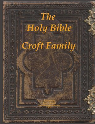 Croft Family Bible Pages, Fulton County, Kentucky