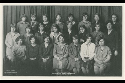 1927 GIRLS GLEE CLUB, WEST FRANKFORT COMMUNITY HIGH SCHOOL, WEST FRANKFORT, ILLINOIS