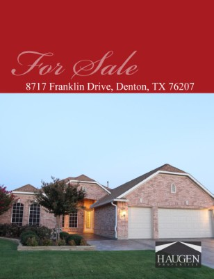 Haugen Properties - 8717 Franklin Drive, Denton, Texas 76207