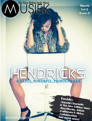 Musiek Magazine March Issue Featuring Hendricks