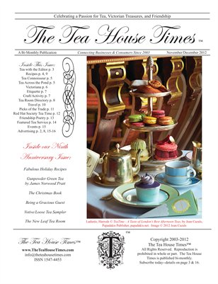 The Tea House Times Nov/Dec 2012 Issue