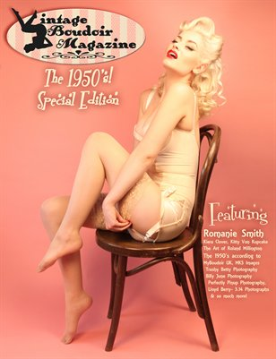 Vintage Boudoir Magazine Presents: The 1950's! - The Romanie Smith Cover