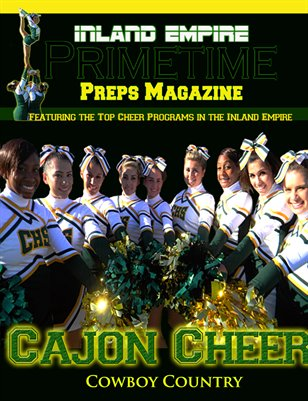 Inland Empire Prime Time Preps Magazine Cajon Cheer Edition April 2012