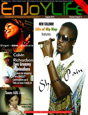 Enjoy Life Magazine Vol. 9 Issue 11, Calvin Richardson & Sham Pain