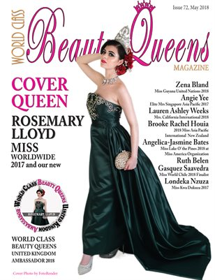 World Class Beauty Queens Magazine, Issue 72 with Rosemary Lloyd