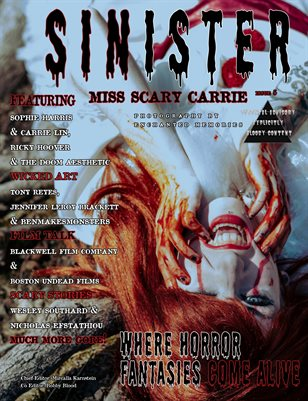 SINISTER Magazine Issue#5- Miss Scary Carrie Cover