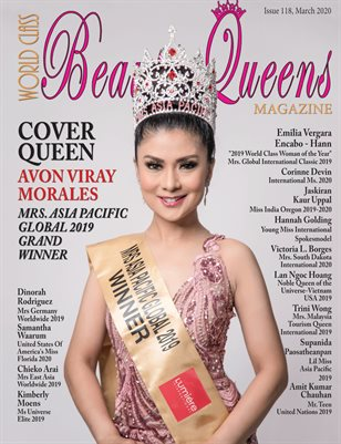 World Class Beauty Queens Magazine Issue 118 with Avon Viray Morales