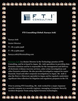 FTI Consulting Global: Kazuya Aoki