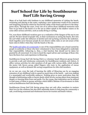 Surf School for Life by Southbourne Surf Life Saving Group