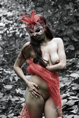 Masked In Mystery - Art Nude