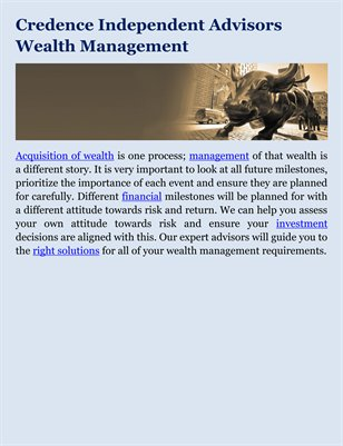 Credence Independent Advisors Wealth Management