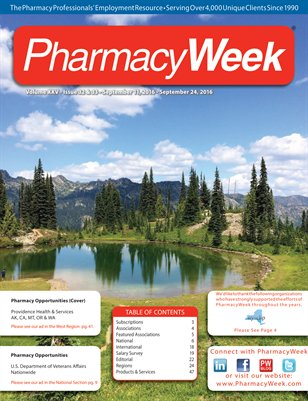 Pharmacy Week, Volume XXV - Issue 32 & 33 - September 11, 2016 - September 24, 2016