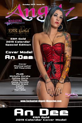 ENCHANTED ANGELZ MAGAZINE - SPECIAL EDITION - EBR GOLD CALENDAR COVER POSTER - Cover Model An Dee - Oct 2018