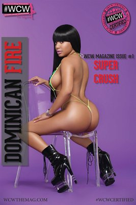 WCW POSTER DOMINICAN FIRE SUPER CRUSH