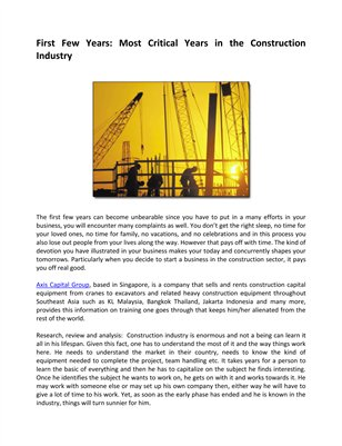 Construction Industry Complaints and Review Axis Capital Group Singapore