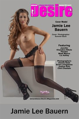 INTENSE DESIRE MAGAZINE COVER POSTER - Cover Model Jamie Lee Bauern - September 2020