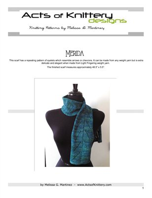 Merida Scarf Knitting Pattern