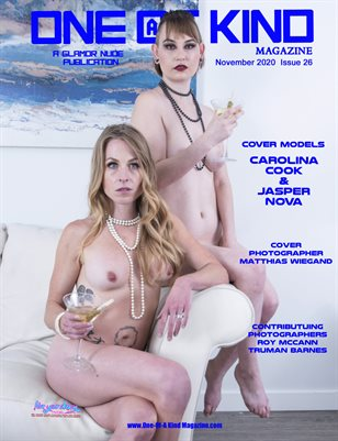 ONE OF A KIND MAGAZINE - Cover Models Carolina Cook & Jasper Nova - November 2020