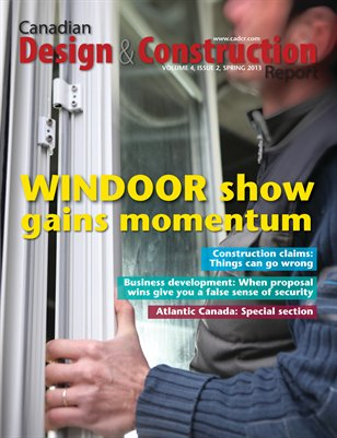 Canadian Design and Construction Report (Spring 2013