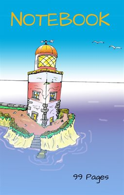 Notebook - 100 pages - 5.5'x 8.5'' - Lighthouse - seagull