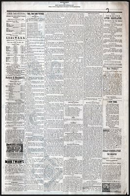 (PAGES 3-4) DECEMBER 10, 1881 MAYFIELD MONITOR NEWSPAPER, MAYFIELD, GRAVES COUNTY, KENTUCKY