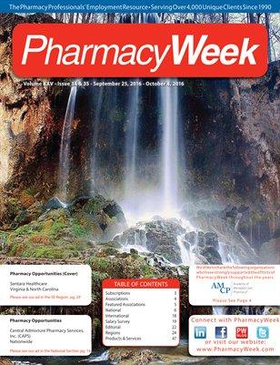 Pharmacy Week, Volume XXV - Issue 34 & 35 - September 25, 2016 - October 8, 2016