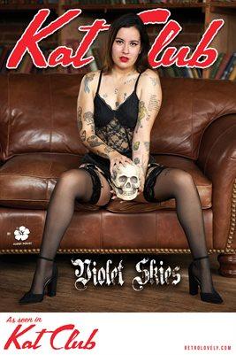 Kat Club No.45 – Violet Skies Cover Poster